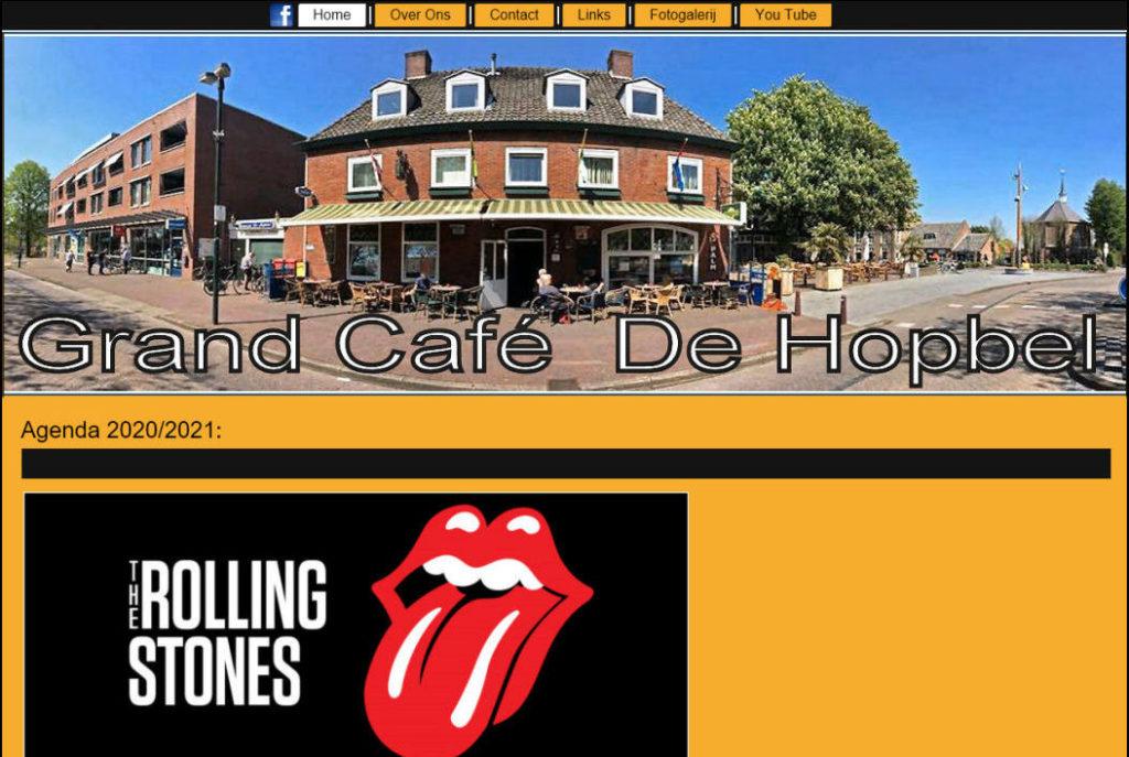 Portfolio - Grand Café De Hopbel - JB Webdesign & Ontwerp